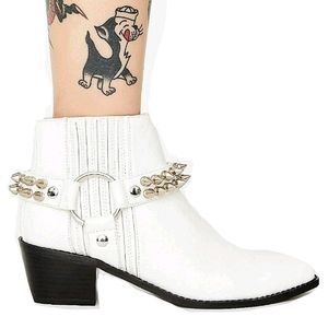Current Mood Studded Cowboy Ankle Boots